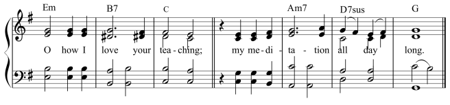 Psalm 119 antiphon