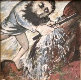 Moses strikes the rock, Arthur Boyd