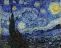 'Starry Night' by V van Gogh. Wikimedia commons