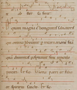 Manuscript of Hildegard chant, http://hildegardmusic.blogspot.com.au/