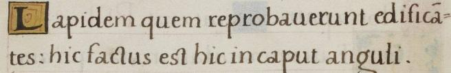 Psalm 118:22 (modern numbering), Henry VIII Psalter, BL Royal MS 2 A XVI