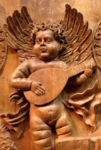 Cherub playing lute, AugMus Fbg