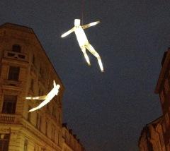 Street art, Prague. Dancing