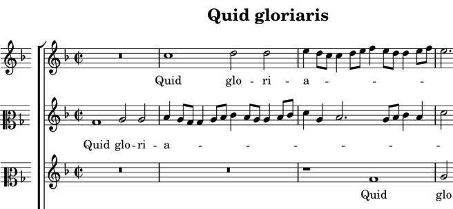 Lassus' Quid gloriaris, CPDL