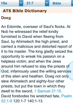 Introducing Doeg. Bible hub.com