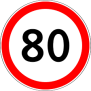 80 sign
