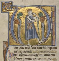 Illustration from The Grandisson Psalter, Exeter 13C. BL MS 21926 F66v