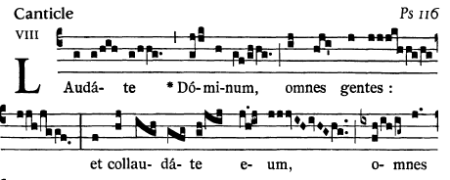 Ps 117 (116 in Vulgate) melismatic chant