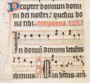 Antiphon to Ps. 122 Arundel MS 83, British Library