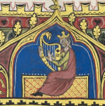 King David and harp