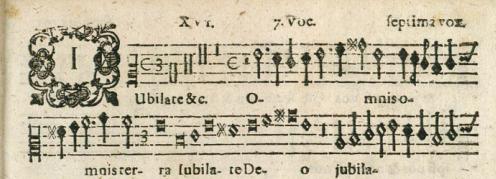 Septima vox, Musarum Sioniarum (1607), Praetorius.